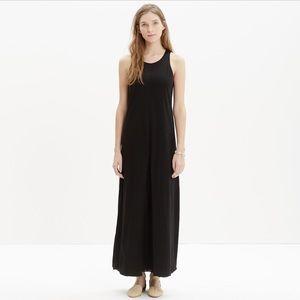 NWT Madewell Black Tank Maxi Dress